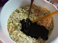 Vlivanje mokrih sestavin v suhe.