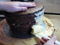 Nanašanje osnovne maslene kreme 1.