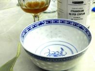 Predpriprava: posodica, alkohol in dve žlici ohlajenega pektina.