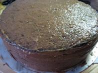 Torta, pripravljena na glazuro.