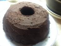 ... sem premazala s čokoladno-krompirjevo kremo.