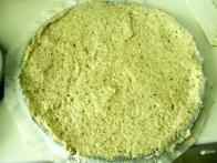Nanj sem na pol centimetra debelo namazala orehovo-beljakovo testo za reformco. In vajo ponovila 12-krat.
