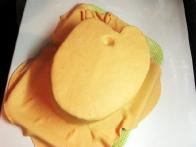... in torta je prekrita s fondantom.