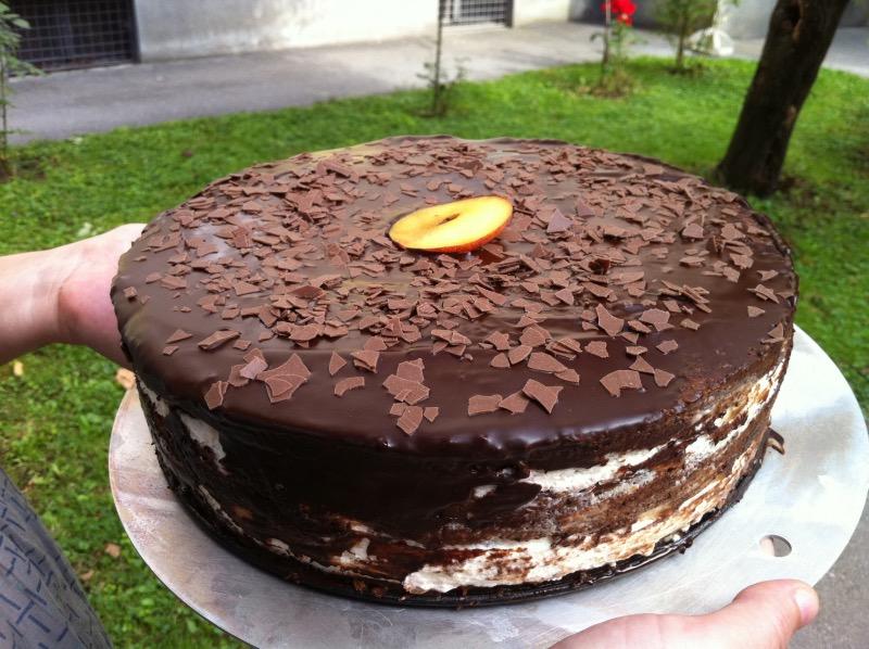 Čokoladno-smetanovo-sadna