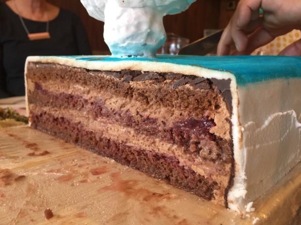 Prerez spodnje torte